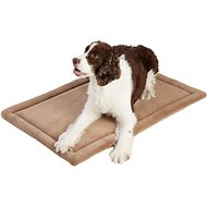 Frisco Micro Terry Pet Bed & Crate Mat, Taupe, 36-in