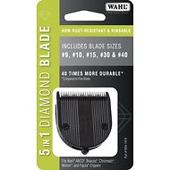 Wahl 5 in 1 Adjustable Diamond Blade Set, size 9, 10, 15, 30, 40