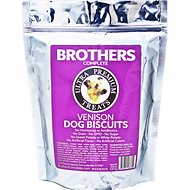 Brothers Complete Venison Biscuits Dog Treats, 1-lb bag