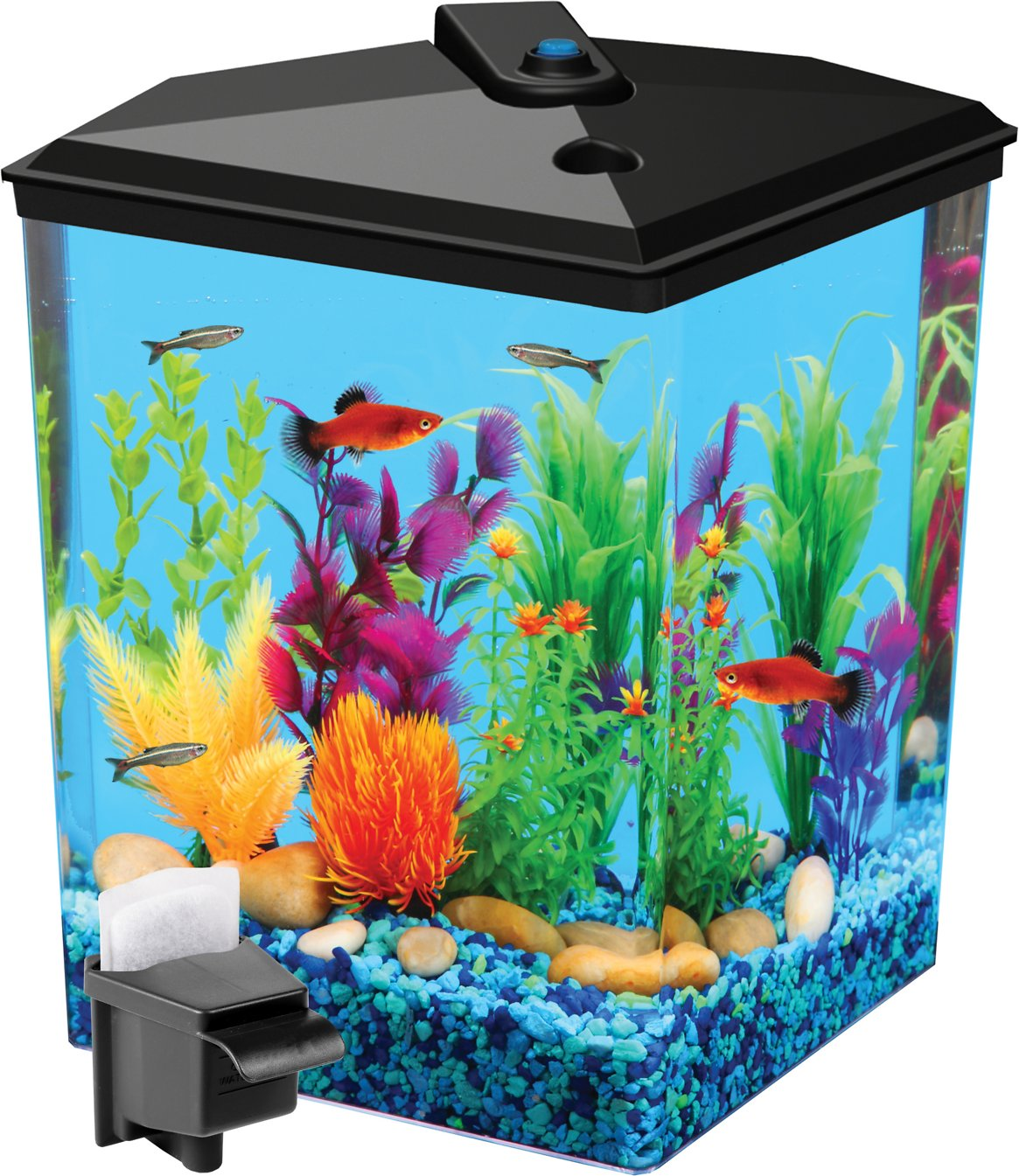Koller products tropical aquaview corner aquarium starter for Saltwater fish tank kit