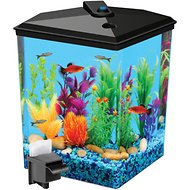 Koller Products Tropical Aquaview Corner Aquarium Starter Kit, 2.5-gal
