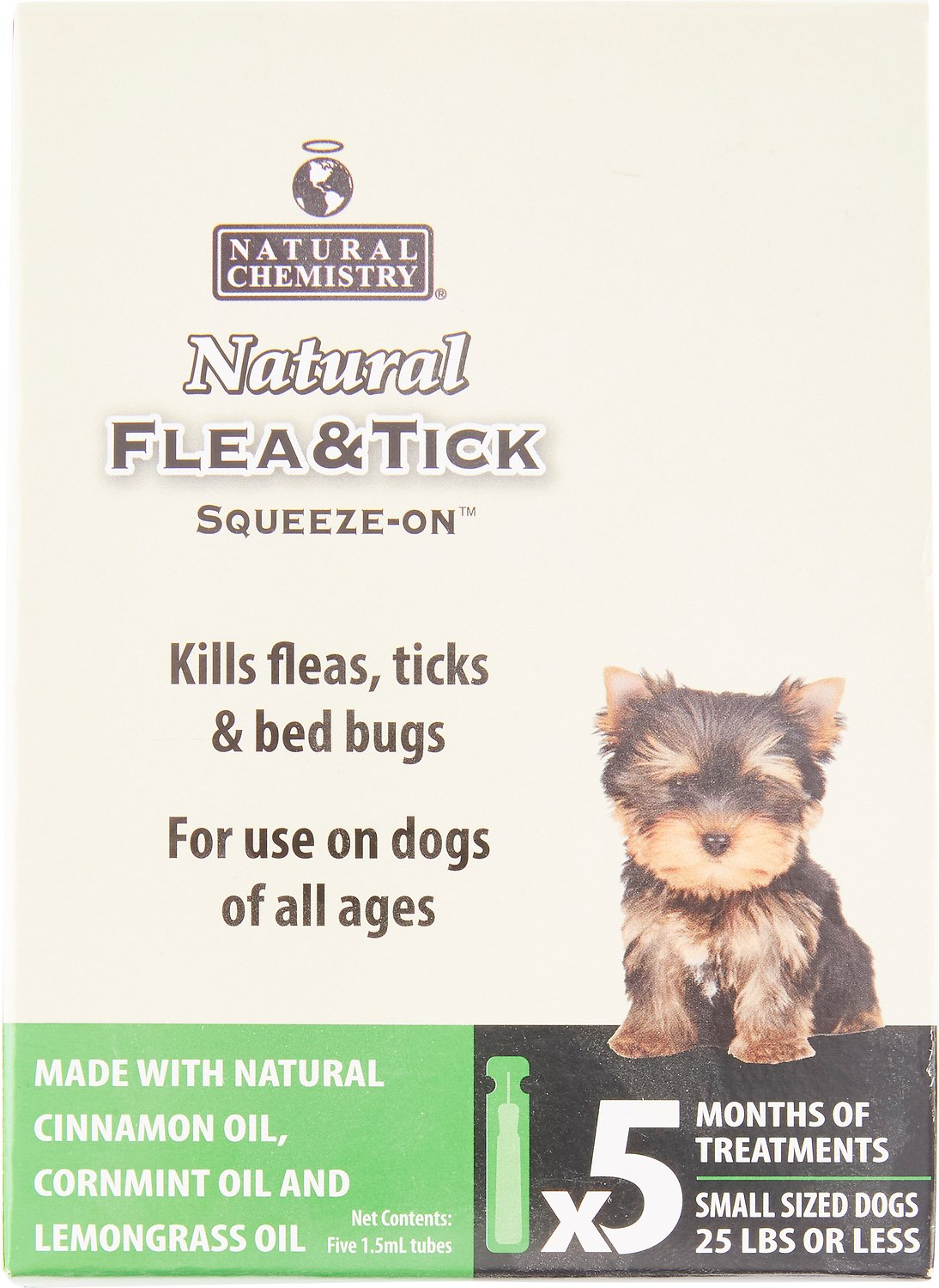 Natural Chemistry Natural Flea Tick Squeeze On For Dogs Small