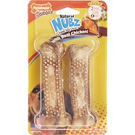 Nylabone Edibles Natural Nubz Chicken Flavor Dog Chew Toy, Large, 2 count