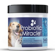 Nusentia Probiotic Miracle Premium Blend Dog & Cat Supplement, 131g jar