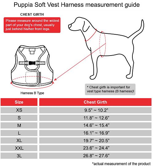 Puppia Vest Polyester Step In Back Clip