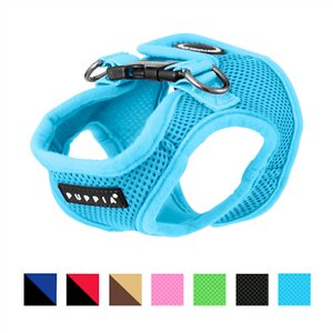 Puppia Vest Polyester Step In Back Clip Dog Harness