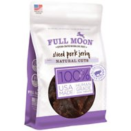 Full Moon Natural Cuts Sliced Pork Jerky Dog Treats, 10-oz bag