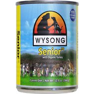 Wysong Senior  with Organic Turkey Canned Dog Food, 12.9-oz. case of 12