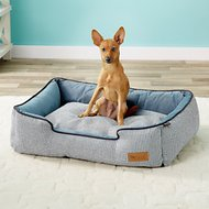 P.L.A.Y. Pet Lifestyle and You Houndstooth Lounge Bed, Blue/White, Medium
