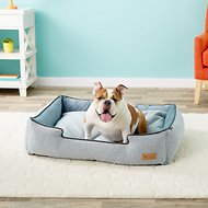 P.L.A.Y. Pet Lifestyle and You Houndstooth Lounge Bed, Blue/White, Large