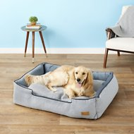 P.L.A.Y. Pet Lifestyle and You Houndstooth Lounge Bed, Blue/White, X-Large