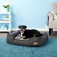 P.L.A.Y. Pet Lifestyle and You Houndstooth Lounge Bed, Black/Grey, Large
