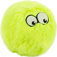 GoDog Furballz Chew Guard Dog Toy, Lime, Large