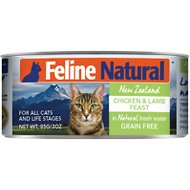 Feline Natural Chicken & Lamb Feast Grain-Free Canned Cat Food, 3-oz, case of 24