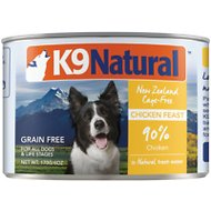 K9 Natural Cage-Free Chicken Feast Grain-Free Canned Dog Food, 6-oz, case of 24