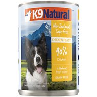 K9 Natural Cage-Free Chicken Feast Grain-Free Canned Dog Food, 13-oz, case of 12