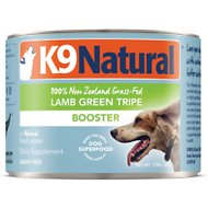 K9 Natural Booster Lamb Green Tripe Grain-Free Canned Dog Food Supplement, 6-oz, case of 24