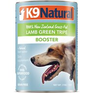 K9 Natural Booster 100% Grass-Fed Lamb Green Tripe Canned Dog Food, 13-oz, case of 12