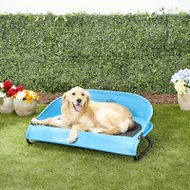 Gen7Pets Cool-Air Cot Pet Bed, Trailblazer Blue, Large