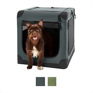 Frisco Indoor & Outdoor Soft Dog Crate, Dark Gray, 26-in