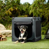 Frisco Indoor & Outdoor Soft Dog Crate, Dark Gray, 36-in