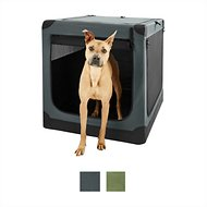 Frisco Indoor & Outdoor Soft Dog Crate, Dark Gray, 42-in