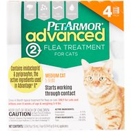 PetArmor Advanced 2 Flea Treatment for Medium Cats 5-9 lbs, 4 treatments