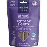 Get Naked Digestive Health Dental Grain-Free Chew Sticks Dog Treats, Large