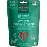 Get Naked Weight Management Grain-Free Dental Stick Dog Treats