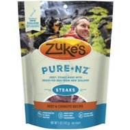 Zuke's PureNZ Steaks Beef & Carrots Recipe Dog Treats, 5-oz bag