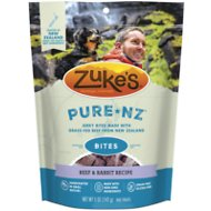 Zuke's PureNZ Bites Beef & Rabbit Recipe Dog Treats, 5-oz bag