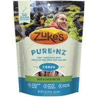 Zuke's PureNZ Cords Beef & Duck Recipe Dog Treats, 5-oz bag