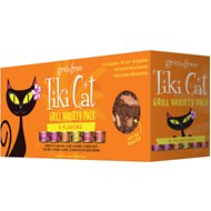 Tiki Cat King Kamehameha Grill Variety Pack Grain-Free Canned Cat Food, 2.8-oz, case of 12