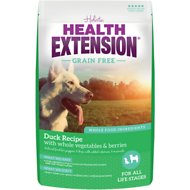 Health Extension Grain-Free Duck Recipe Dry Dog Food, 4-lb bag