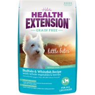 Health Extension Grain-Free Little Bites Buffalo & Whitefish Recipe Dry Dog Food, 4-lb bag