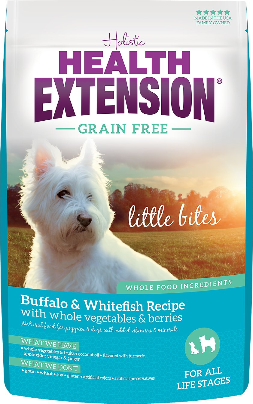 Health Extension Grain Free Little Bites Buffalo Whitefish Recipe
