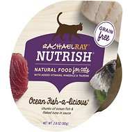 Rachael Ray Nutrish Ocean Fish-A-Licious Natural Grain-Free Wet Cat Food, 2.8 oz, case of 12