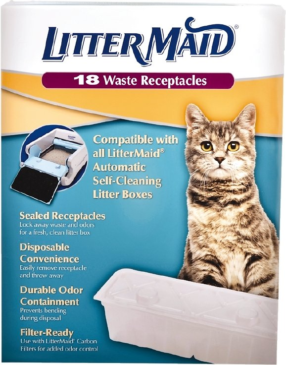 Littermaid Waste Receptacles For Self Cleaning Cat Litter Box 18
