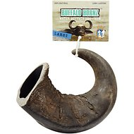QT Dog Buffalo Hornz Water Buffalo Horn Dog Treat, Large