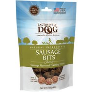 Exclusively Dog Sausage Bits Dog Treats, 7-oz bag
