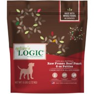 Nature's Logic Beef Feast Patties Raw Frozen Dog Food, 8-oz patty, 6-lb bag