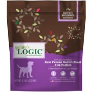 Nature's Logic Rabbit Feast Patties Raw Frozen Dog Food, 8-oz patty, 6-lb bag