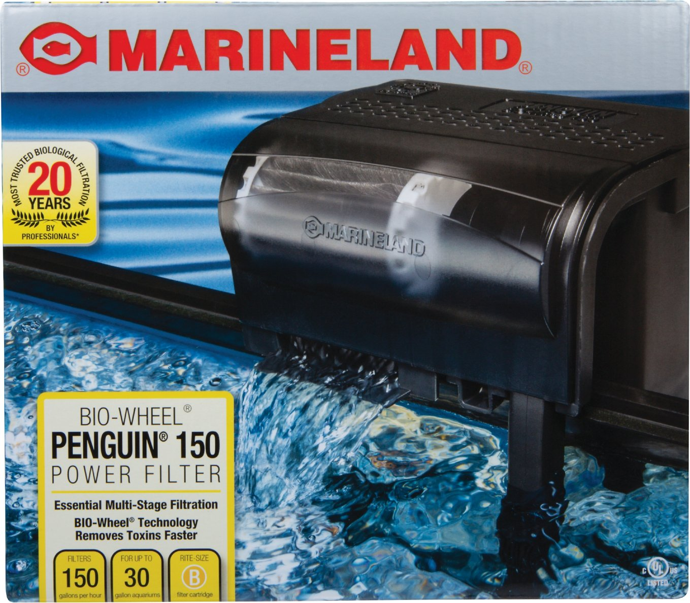Marineland Bio-Wheel Penguin Power Filter, Size 150 ...