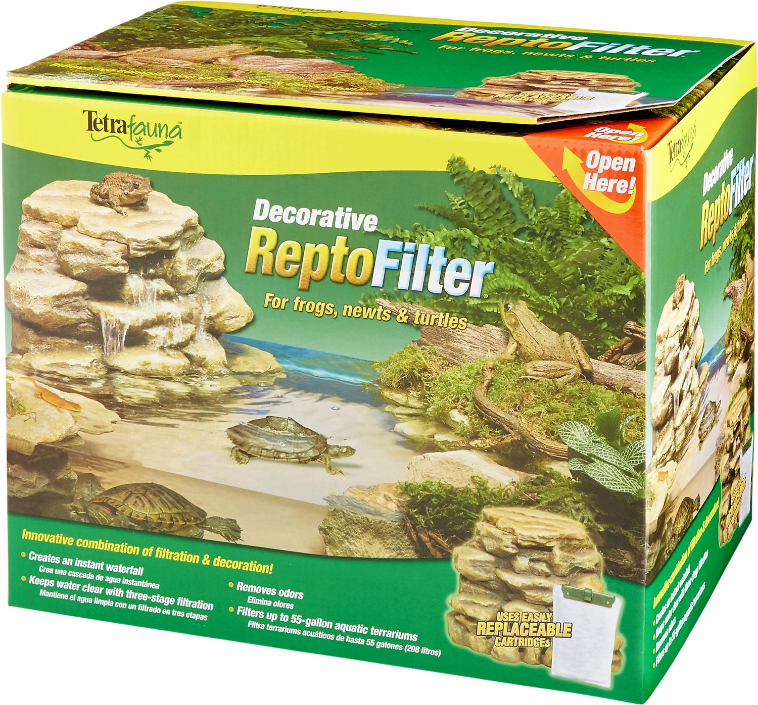 Tetrafauna Decorative ReptoFilter for Frogs, Newts & Turtles, 55-gal