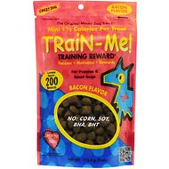 Crazy Dog Train-Me! Minis Bacon Flavor Dog Treats, 4-oz bag