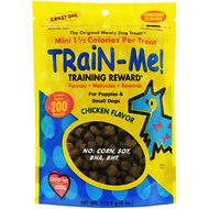 Crazy Dog Train-Me! Minis Chicken Flavor Dog Treats, 4-oz bag