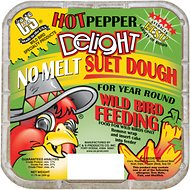 C&S Hot Pepper Delight No Melt Suet Dough Wild Bird Food, 11.75-oz tray