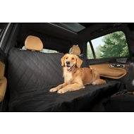 Plush Paws Products Quilted Hammock Car Seat Cover, Black, Regular
