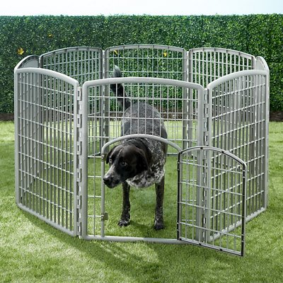 IRIS 8-Panel Plastic Exercise Dog Playpen