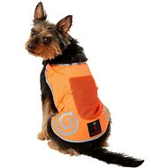 Ultra Paws Reflective Safety Vest for Dogs, Bright Orange, Small